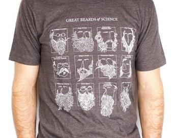 Great Beards of Science T-Shirt | Scientist Beard Shirt, Nerd Humor, Boyfriend Gift for Men, Science Shirt, Science humor
