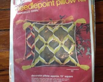 Bucilla Needlepoint Pillow Kit, 1970s - Unopened!