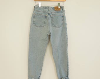 "Vintage Gap jeans High Waist Tapered led Faded perfectly Youth Size 14 Women's 26"" waist 34"" hips Weathered Jeans Women's XS 90's Era"