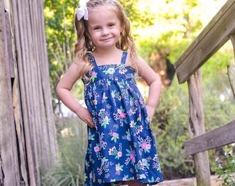 Girls Sundress - Dress - Girls Dress - Girls Summer Dress - Boutique Dress - Toddler Dress - Hattie Dress - Simple Dress - Strappy Dress