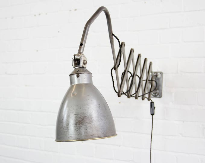 Large Industrial Scissor Lamp By AGI Circa 1930s
