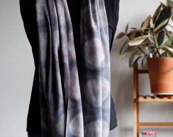 Grey Full Moon Infinity Scarf