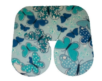 Seamless Butterfly Print Fleece Massage Face Pad Drape