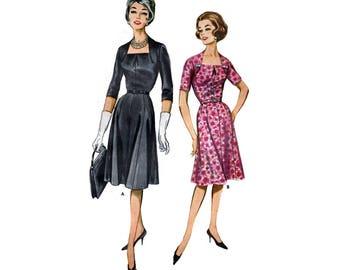 Women's Slimliner Flared Dress Sewing Pattern Misses Half Size 18 1/2 Bust 39 Vintage 1960's Butterick 2147