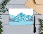 Aoraki Mount Cook Modern Geometric Mountain Abstract Landscape Greeting Card