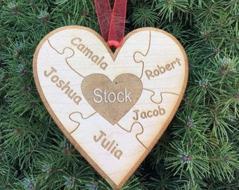Personalized wooden ornament
