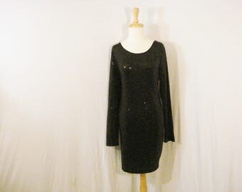 Little Black Dress Sequin Evening Wear Chic Glam Kensie Formal Special Occasion XL