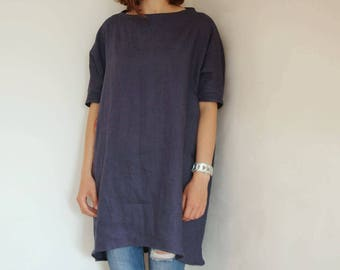 Womens oversized linen top, linen tunic, linen clothing, womens linen clothing, linen top, linen shirt, CollectionWN
