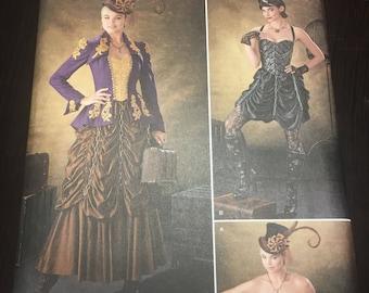 UNCUT Simplicity Sewing Pattern 1248-Women's Steampunk Victorian Costume Sizes 14-22