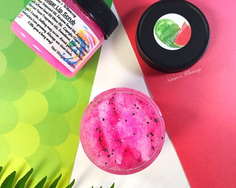 Watermelon Lip Scrub  - Lips - Lip Balm - lush exfoliating lip scrub Sugar Lip Scrub, Lip Care, Lip Treatment, 2.o oz. gently dry lips
