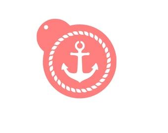 Anchor Cookie Stencil, Anchor Cookies, Nautical Cookie Stencil, Nautical Cookies, Nautical Cake Stencil, Nautical Rope Stencil, 5.5 x 5.5