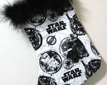 Star Wars Darth Vader Storm Trooper Christmas Holiday Quilted Stocking