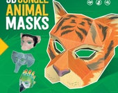 3D Jungle Animals Book for Kids + Free Digital Mask