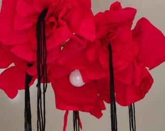 """Poppy"" paper chandelier"