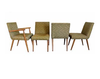 Mid Century Modern Robsjohn Gibbings for Widdicomb Set of 4 Dining Chairs 1960s