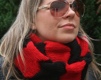 Knit Infinity Scarf, Women's Scarf, Circle Scarf, Cowl, Neckwarmer, Snood, Hooded Scarf, Winter scarf, Gift for women, Women's Accessories