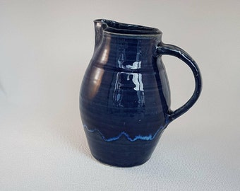 Handthrown Royal Blue Cider Jug