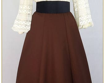 Cinnamon Twill Victorian Skirt