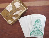Vintage Card Game, Fun with Numbers Deck #6 Arithmetic Game, Fortune Teller or Gypsy Girl I Win Cards from 1951, Paper Ephemera, Swap Cards