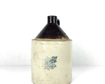 Antique Western Stoneware Crock Small Antique Stoneware Western Stoneware Small Crock Jug