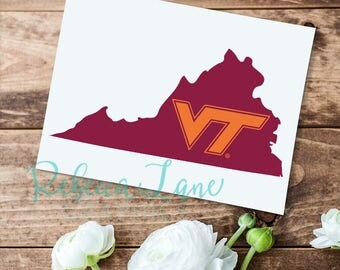 Officially Licensed VT logo Virginia Decal