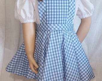 Size 6 Whimsical Dorothy  costume ---  Ready to ship
