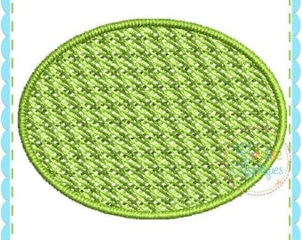 Embossed Oval Monogram Frame Digital Machine Embroidery Design 15 Sizes, pile drop, nap tack down, embossed frame,