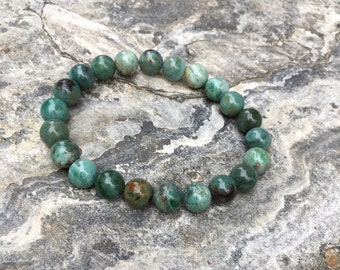 African jade bracelet bohemian bracelet everyday bracelet women's bracelet stone bracelet mens beaded stretch bracelet boho chic LavishLucy