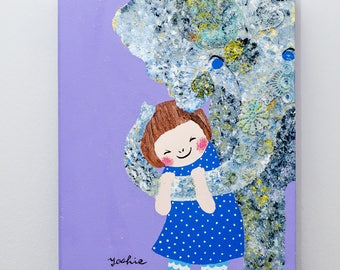 Yoshie's original painting 'You are so lovely!'