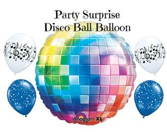 Disco Ball Balloon Rock n Roll Party Dance Music Party 60s 70s 80s Party Disco Ball Balloon