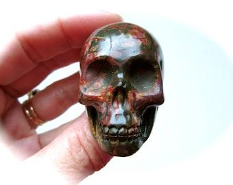 Multi-Picasso Jasper Crystal Skull 51mm 88g