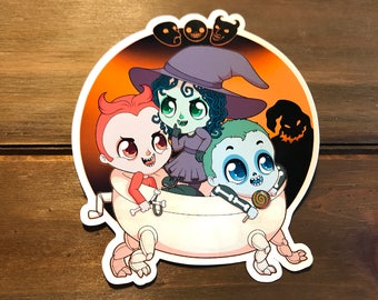 Kidnap the Sandy Claws Sticker ( lock shock barrel nightmare before christmas chibi adorable kawaii )