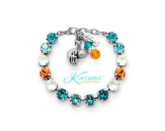 DOLPHIN'S BLING 8mm Bracelet Made With Swarovski Crystal *Pick Your Finish *Karnas Design Studio *Free Shipping*