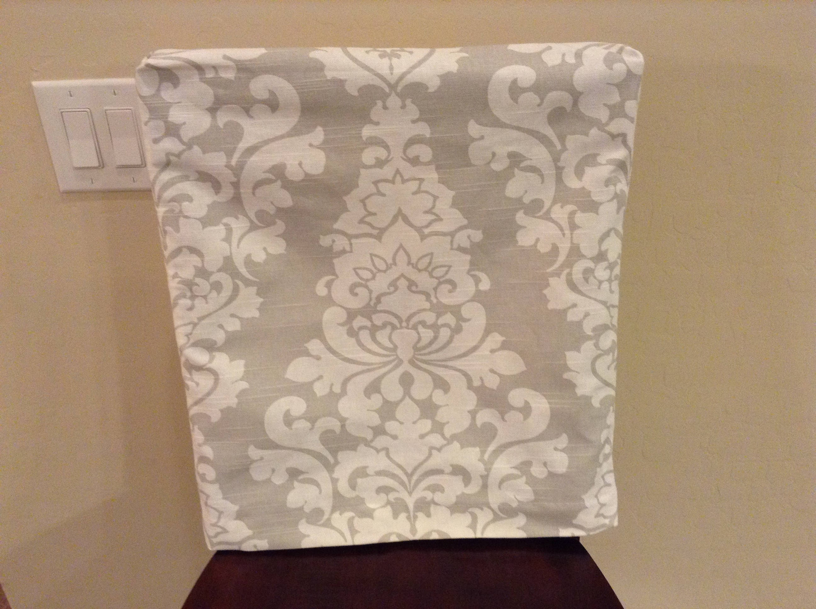 Chair Back Covers Berlin French Gray Fabric kitchen chair back
