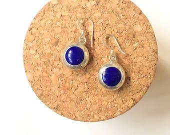 Lapis earrings, Lapis silver earrings, dangle gemstone earrings, sterling silver earrings, Blue stone, Natural Lapis lazuli, Gift for her