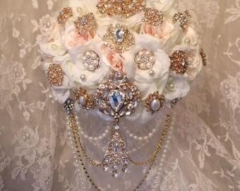 Blush Ivory Brooch Bouquet,