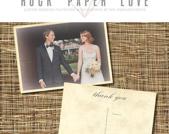 "Wedding Thank You Postcards 4x5.5"" Set of 100"