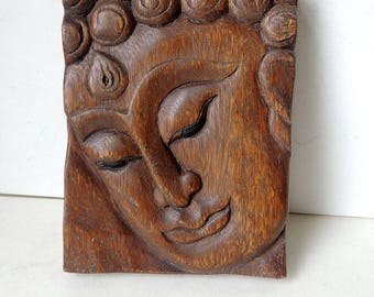 Buddha Wood Carving Wall Hanging