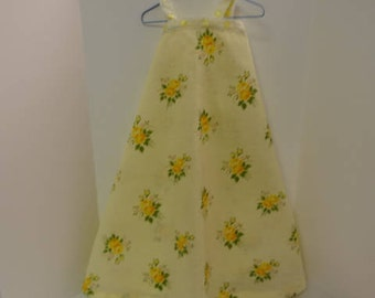 Vintage Handmade Doll Sun Dress or Pajamas with Floral Print