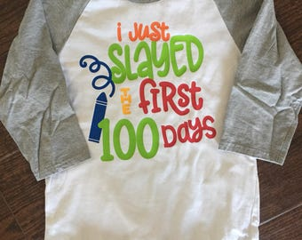 Boys 100th day of school shirt