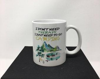 Camper mug, Camping mug, Vintage Camper, RV Coffee Mug, Travel Trailer Mug, Camper coffee mug, Camping coffee cup, Camper Mug, Camping
