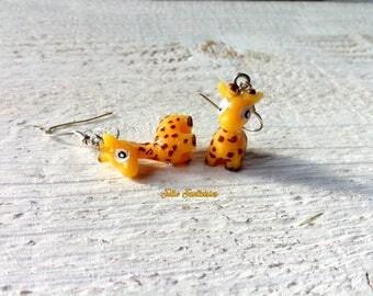"""Earrings """"Little Giraffe"""" * resin"""