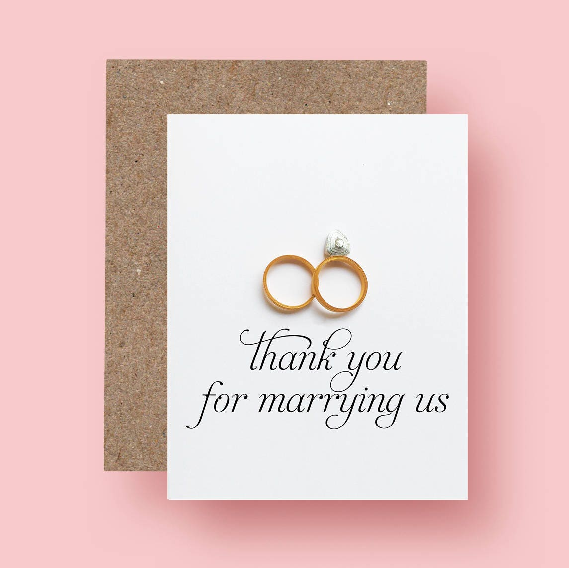 Wedding officiant thank you card thank you for marrying us zoom magicingreecefo Images