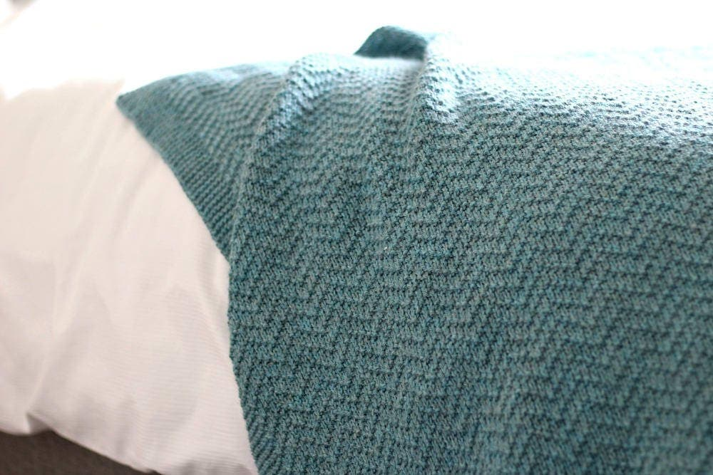 Knitting Pattern Blanket Throw : KNITTING PATTERN Knit Blanket Pattern Knit Throw Pattern