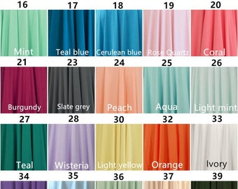 Bridesmaids Infinity dress Color sample:Buy one, and then leave a message, you can get four swatch