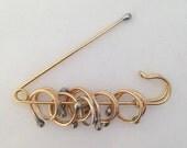 Brass Mark Knit Pin