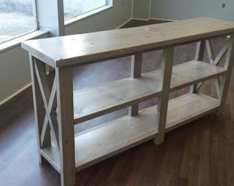 X Style Console Table