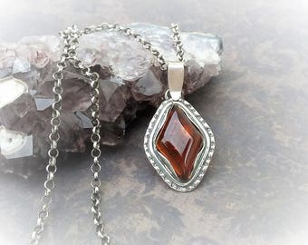 Amber Pendent-Amber Necklace-Urban Chic Jewelry-Geometric Jewelry-Boho Chic Jewelry-Sterling Silver Jewelry-Modern Minimalist Jewelry