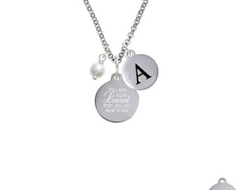 You are More Loved Necklace,Initial & Crystal,You are so Loved,Engraved Necklace,Initial Necklace,I Love You More,C6578