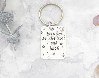 Boyfriend Gift | Gift For Boyfriend | Girlfriend Gift | Keyring For Boyfriend | Love You To The Moon | Love you to the stars | Husband Gift